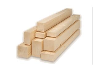 Hobl. hranol - smrk masiv 80x80x3000mm, A/B